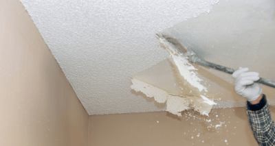 Asbestos Popcorn Ceiling Finish Removal