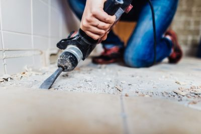 Removal of asbestos flooring